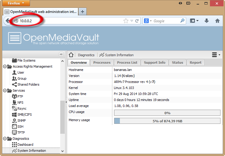 Apple Filing AFP plugin finished openmediavault